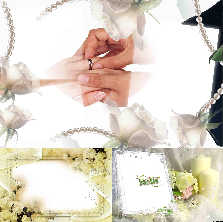 Сделать фото с рамкой к свадьбе